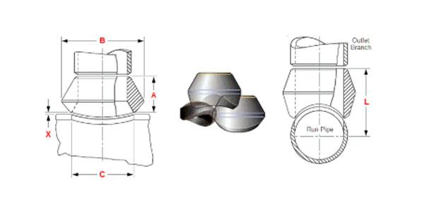 Weldolet Dimensions